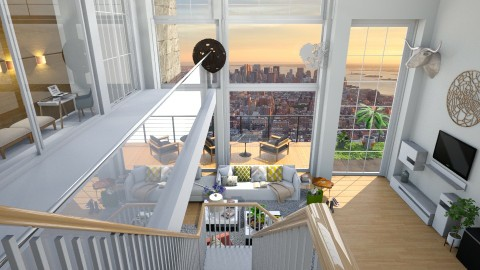 Apartment_above - Living room - by FJ Bah
