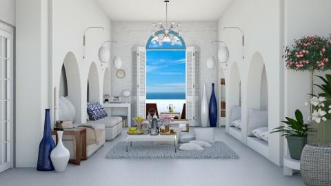 Greek Island Living Room - Living room - by ayu DR
