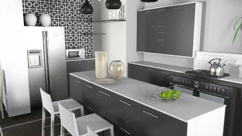Black&White Kitchen - Modern - Kitchen - by cara_98