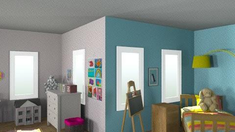 girly vs. tom boy(: - Kids room - by clo_bug12