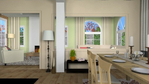 Den and Kitchen 2 - Modern - Dining room - by mpy1999