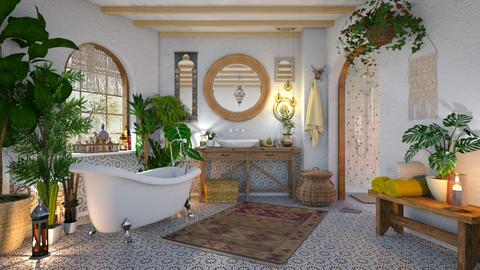 Bohemian Bathroom - Retro - Bathroom - by CatsRule12