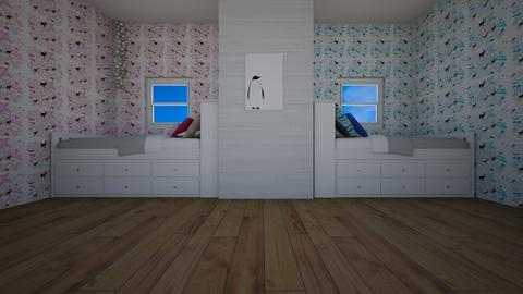 Boy Girl room - Bedroom - by Mirre_