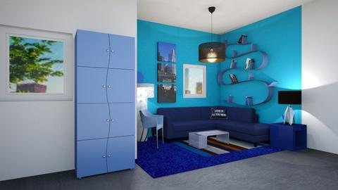 Blue - Glamour - Living room - by Isaacarchitect