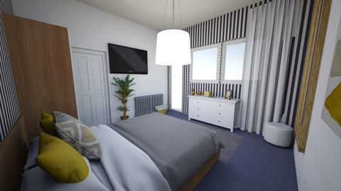 Navy Gold white bedroom - Bedroom - by Smiljka Kostic