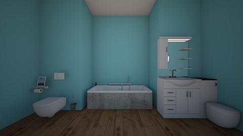 Monochromatic - Bathroom - by kley1054
