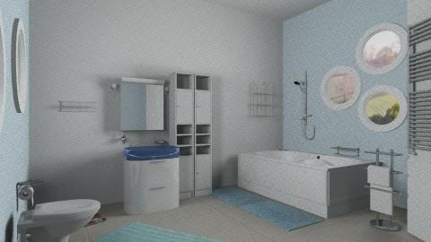 Modern blue bathroom - Modern - Bathroom - by Sotiria Oups