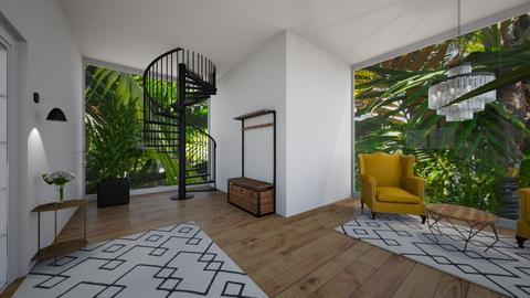 Tropical Entrance Way - Modern - by tcooney