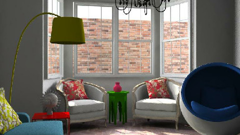 Primary colors renovation  - Living room - by consider this design