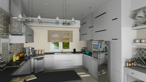 Modern White - Modern - Kitchen - by bigskylibby