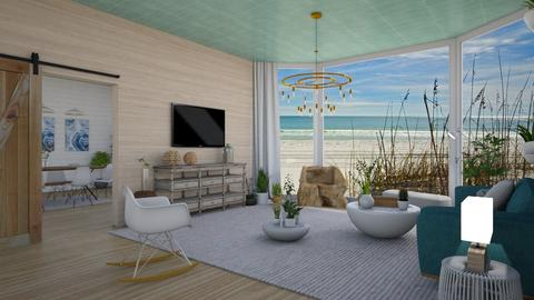 Nautical Modernical - Living room - by LaughingDonut
