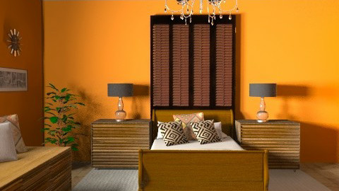 Orange Bed II - Classic - Bedroom - by hunny