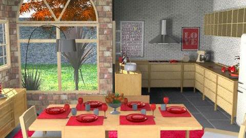 KitchenDiner - Classic - Kitchen - by camilla_saurus