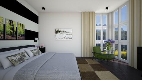 Louise Greene - Minimal - Bedroom - by Jhiinyat