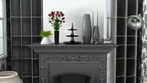 Back to Black - Retro - Living room - by SariJo