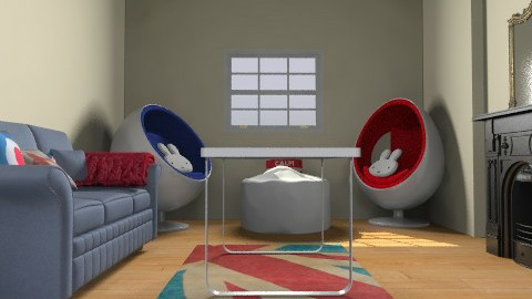 Modern Vintage Living Room - Retro - Living room - by Flora079