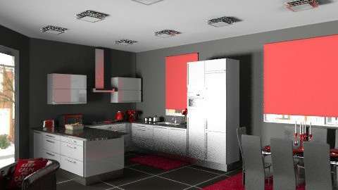 Kitchen1redview4 - Modern - Kitchen - by yvonne400cc