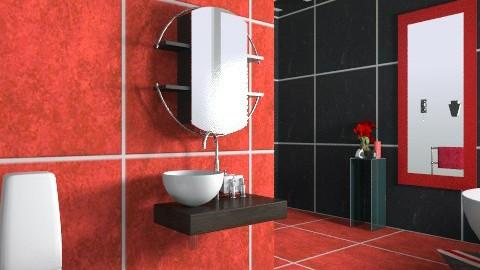 Li - Retro - Bathroom - by Hanieke