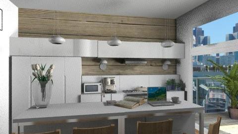modern white wood kitchen - Modern - Kitchen - by KittiFarkas