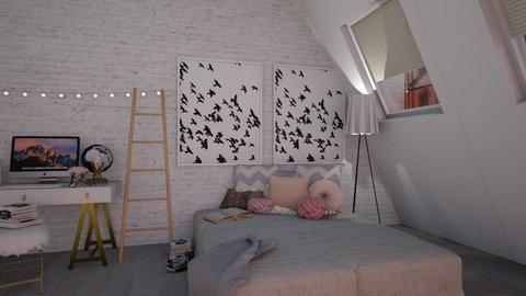 Loft Rose Bedroom - Bedroom - by GinnyGranger394