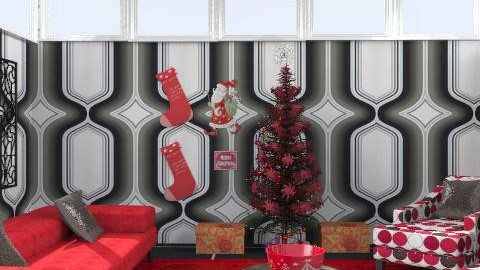 red&black xmas!!!!!! - Retro - Living room - by thankgod