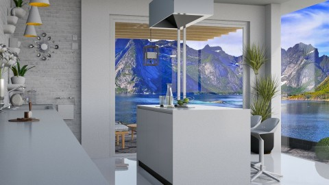 By the lake - Kitchen - by meggle