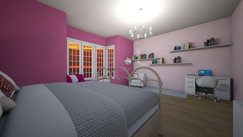 Pink bedroom - Bedroom - by Denisa250