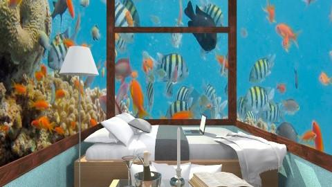 bedroom under water - Bedroom - by ypramestika