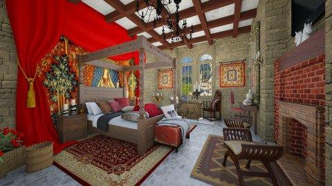 Medieval Hotel Bedroom - Vintage - by DeborahArmelin