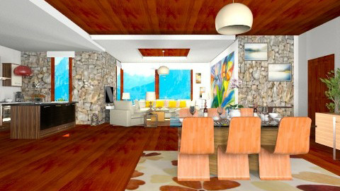 cocoa - Modern - Dining room - by Ana Lilia Garca