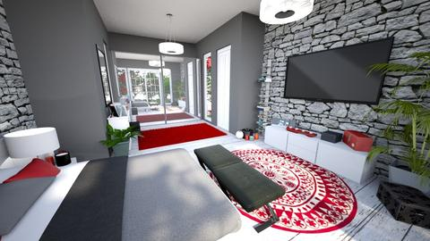 Red Bedroom - Modern - Bedroom - by banusitki