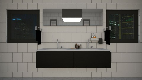 square - Modern - Bathroom - by Rebecca Sliney