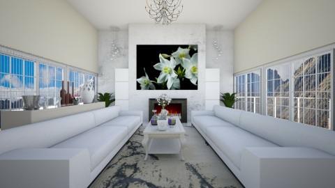 relaxing white - Living room - by eleonoraxruc