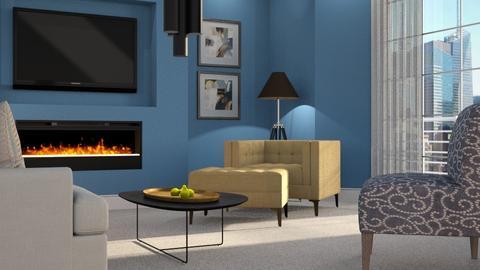 Yellow - Living room - by GraceKathryn