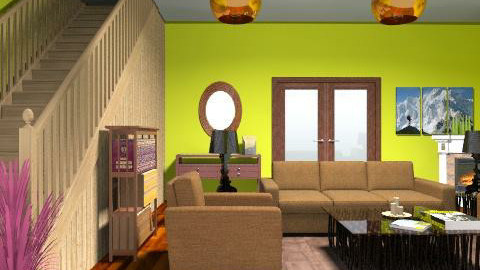 Cool Country Family Room - Country - Living room - by yankees2