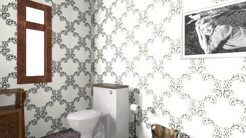 silver screen - Glamour - Bathroom - by TheM5393