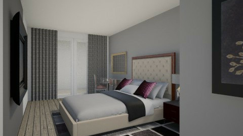 sypialnia - Bedroom - by Wysmolinska