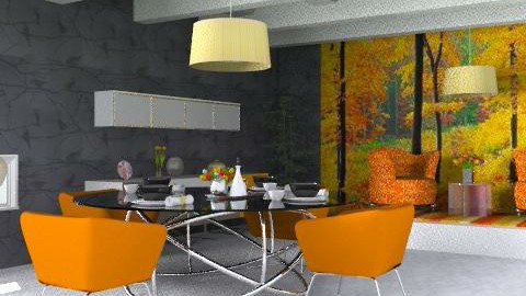 Bosque - Glamour - Dining room - by analilia1900