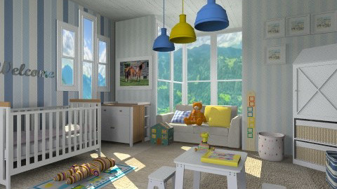 Boy Story - Modern - Kids room - by vesperart