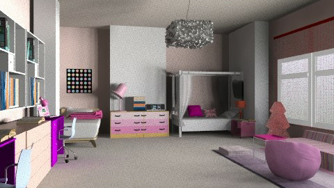 pink twins - Retro - Bedroom - by whateffer