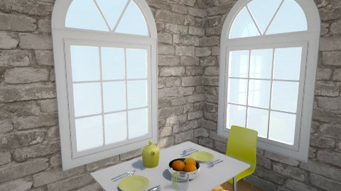 yellow yolo - Dining room - by miaec4