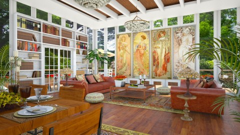 Design 293 The Four Seasons - Living room - by Daisy320
