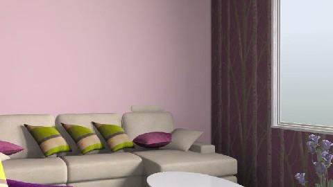 purple - green living room - Modern - Living room - by sweetd