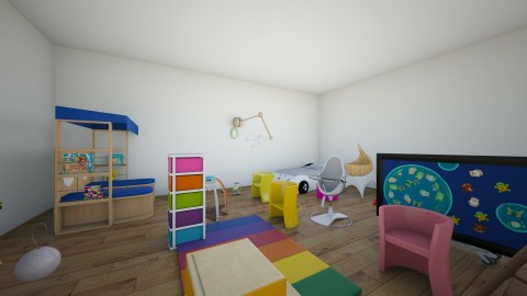 modern kid room - by Annabelle Bienvenue