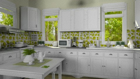 Green Leaves Cooking - Kitchen - by Violetta V