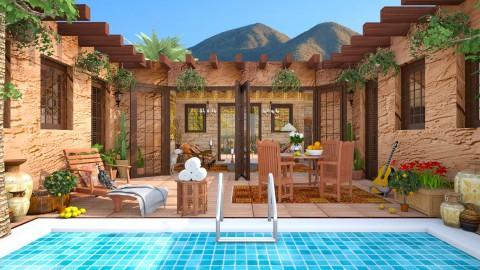 Design 251 Desert Adobe Living - Garden - by Daisy320