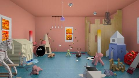Kids Crazy Room - Living room - by RocketFlyer22