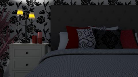 black white red - Bedroom - by tj94