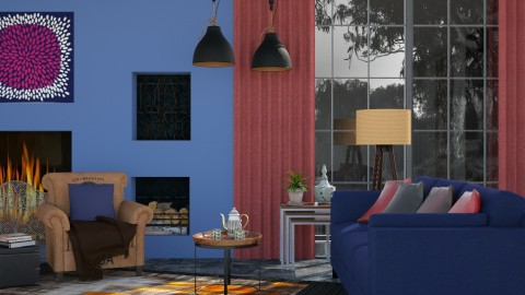 M_Deep colors - Living room - by milyca8