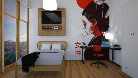 Japan Inspired Teen Room - Bedroom - by anamarijag00